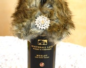 New Years Classy Mink Wine Bottle Collar, Champagne Bottle Collar, Wrap, Mink Faux Fur Hostess Gifts Parties, Weddings, Wine & Spirits