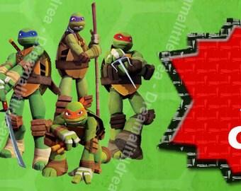 Teenage Mutant Ninja Turtles Editable Address Labels