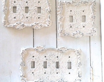 Decorative plates in shabby white switch cover lightswitch light switch cover light switchplates switch cover lightswitch cover light switch cover sciox Image collections