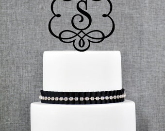 Framed Monogram Topper, Monogram Wedding Topper, Elegant ornate Monogram topper- (T086)