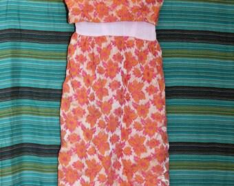 Vintage Bonwit Teller Brocade Maxi Dress XS