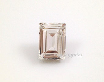 4527 CRYSTAL 14x10mm Swarovski Crystal Rectangle Step Cut Fancy Stone, 2pieces or 10pieces, Foiled Back Clear Crystal