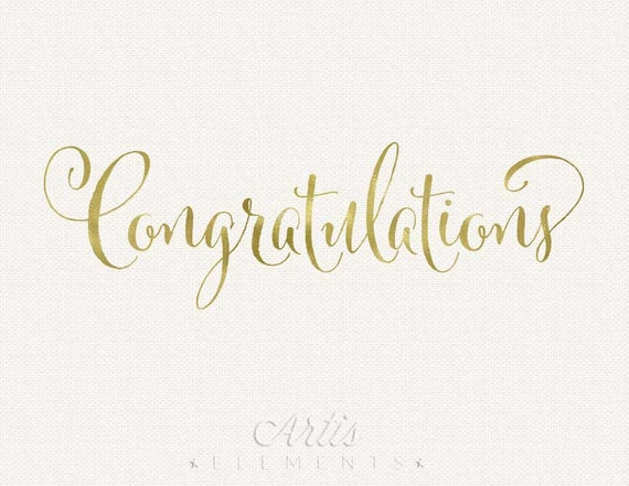 Congratulations gold foil typography digital photo overlay