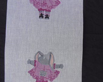 TS Needlepoint Canvas Bunny Rabbit  FREE Shipping USA