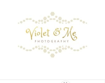 Golden logo photography, business branding, baroque, elegant, feminine logo, golden watermark
