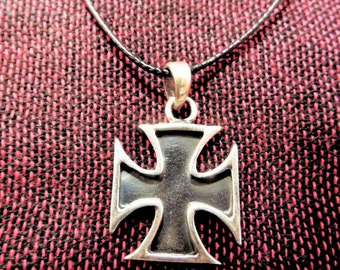 Cross Pendant Silver Sterling Handmade 925 Necklace Christian Religious Crucifix Jewelry Symbol
