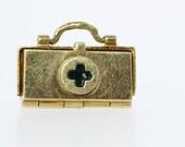 Medic Bag Charm 14K Gold