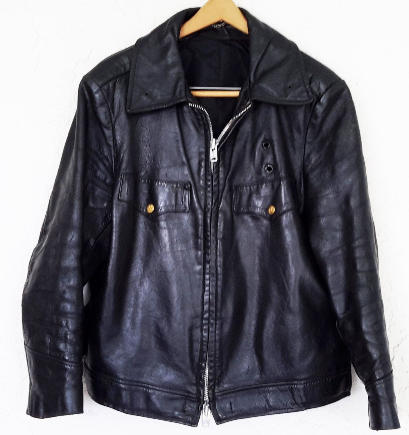 Nypd leather jacket