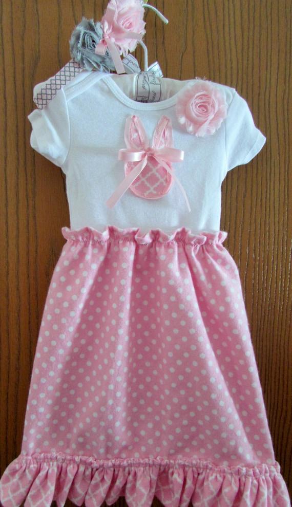 Baby Easter dress/Easter dress/baby Easter outfit/Easter onsie/baby bunny dress/bunny outfit/Easter outfit/bunny outfit/baby bunny/Easter