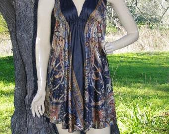 women Tunic Tops Tunic Dress Boho Tunic Womens Tunic Indian Tunic Sari Tunic Hippie Tunic Summer Dress Fairy Clothing Silk Tunic