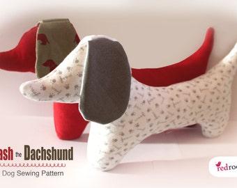 Dachshund Dog Sewing PATTERN - sausage dog
