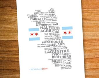 Chicagoland Brews Poster