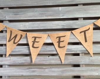 Sweets Burlap Banner