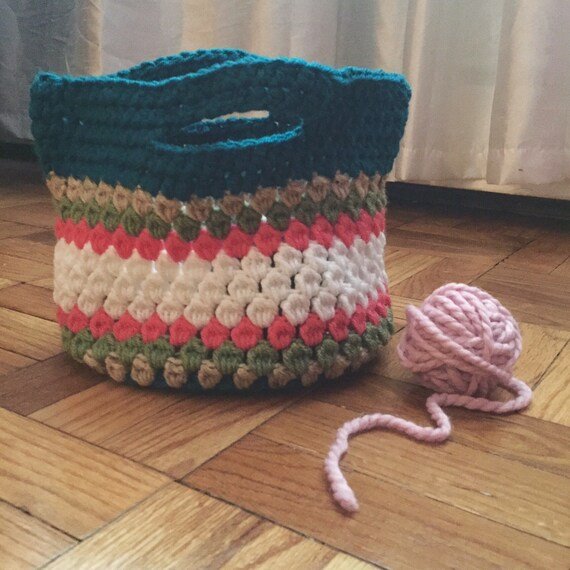 READY TO SHIP Crochet Lunch Tote/Small Bag by ByJohannaWithLove