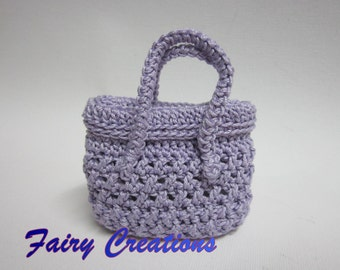Mini crochet handbags