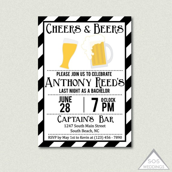 Bachelor Party Invitation as adorable invitations template