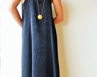 Black Maxi Dress / Elegant Long Dress / Evening Sleeveless Dress / Oversize Prom Dress / Vacation Dress / Casual Summer Dress - Jessa