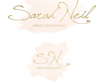 INSTANT DOWNLOAD -- DIY, Premade Watercolor Logo & Watermark