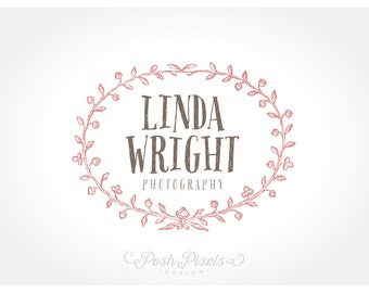 Logo Design Premade Floral Hand Drawn Photography Boutique