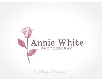 Logo Design (Premade) Rose Logo, Hand Drawn Logo, Photography Logo, Boutique logo, Floral logo, Shabby Chic
