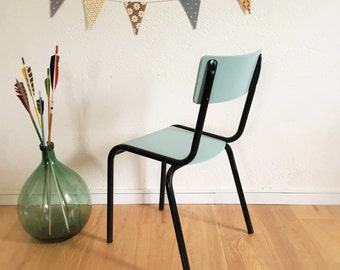 bureau pupitre d 39 colier vintage 1 place bois par chouettefabrique. Black Bedroom Furniture Sets. Home Design Ideas