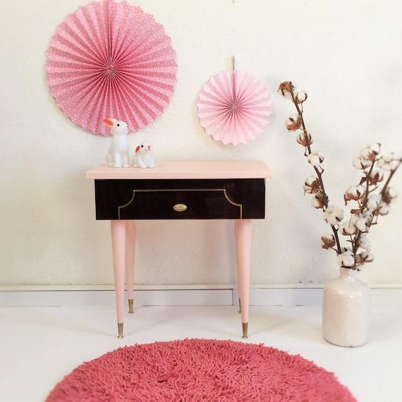soldes chevet table de nuit gu ridon ann es 60 vintage. Black Bedroom Furniture Sets. Home Design Ideas
