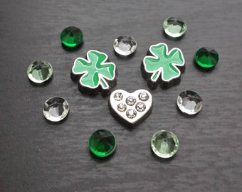 Set of St. Patrick's Day Floating Charms for Floating Lockets-Gift Ideas for Women