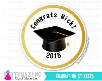 Graduation Tags Stickers, Printable Graduation Tags, Printable Graduation Tags, Custom Stickers, Personalized Labels D407