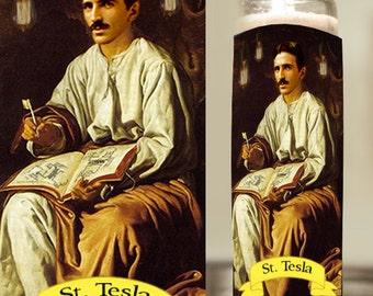 Saint Nikola Tesla Prayer Candle