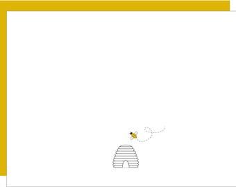 Honey Bee Foldover Notecard