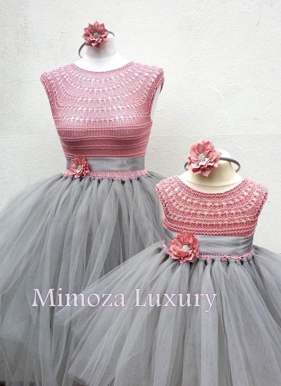 Mother daughter matching dresses adult tutu dress bridesmaid for Mother daughter dresses for weddings