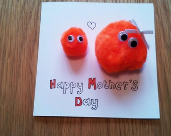 """Handmade Quirky """"Happy Mother's Day"""" Card"""