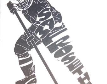 Women's Ice Hockey Silhouette
