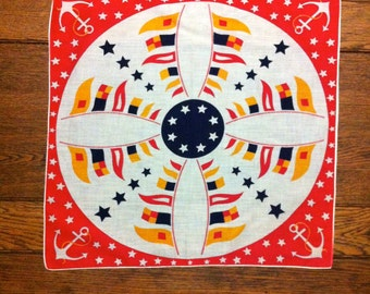 1950s Nautical neckerchief