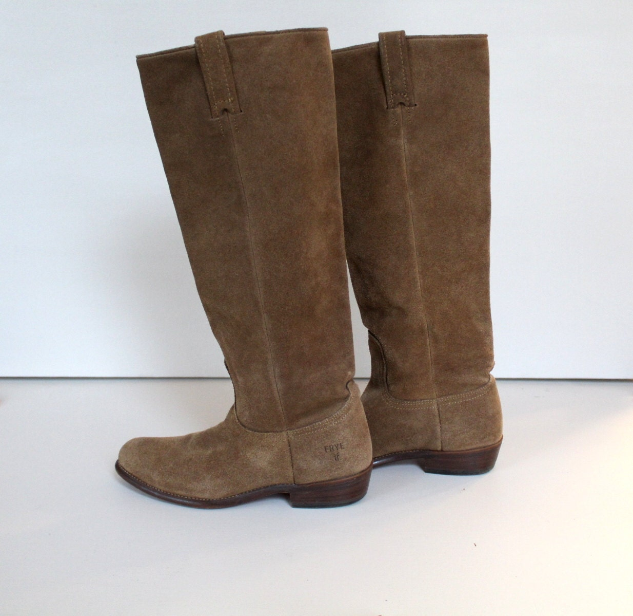 frye suede boots vintage by fillyandflax on etsy