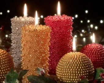 Centerpiece etsy for Large outdoor christmas candles