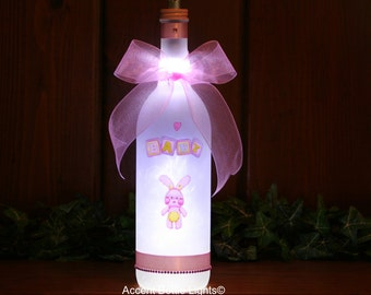 New Baby Girl Bunny Nursery L& - Baby Shower Gift - Baby Lighting - Baby Girl & shower you with love light LED lamp baby happy cloud azcodes.com
