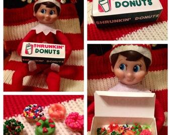 Elf Donut Box! Elf on the Shelf Doughnuts PRINTABLE donut box template