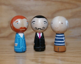 The Modern Masters // Famous Painter Peg dolls // Wooden Dolls