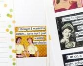 12 Sassy Ladies Quote Stickers for Erin Condren Planner, Filofax, Plum Paper