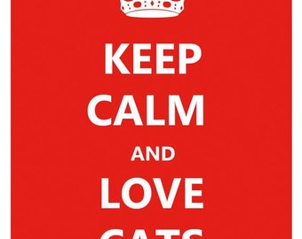 Fridge Magnet Keep Calm and Love Cats