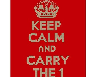 Keep Calm and Carry The 1 Cross Stitch Pattern Download