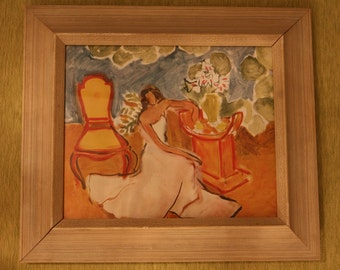 Pair of Framed Vintage MATISSE prints (can be sold without frames )