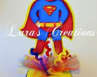Centerpiece for Parties, Superman, Superhero.