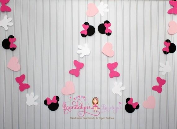 rosa minnie maus garland 12 ft. minnie mouse geburtstag - Minnie Mouse Kinderzimmer Deko