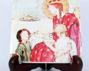 St Margaret of Scotland - catholic saints serie - catholic icon on ceramic tile - Saint Margaret - patron saint - Scottish saints