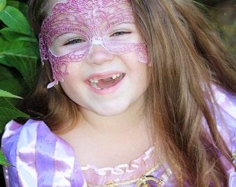 Glitter Pink Lace Mask for girls masquerade Mask for children Masks