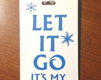 Let It Go Frozen Luggage Tag