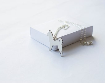 Akita necklace! Sterling silver chain