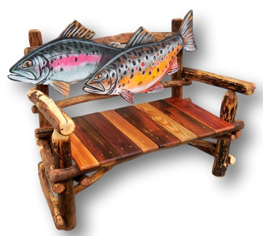 Fish Bench Trout Bench Fish Furniture Fly Fishing